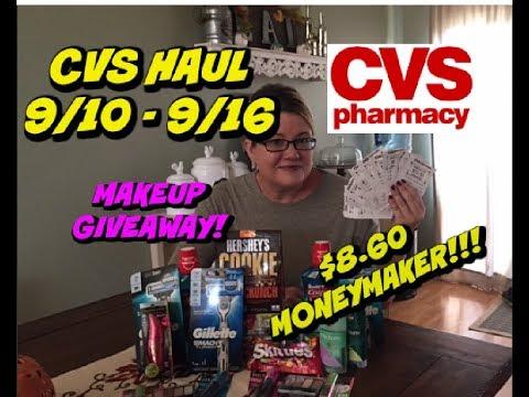 CVS COUPON HAUL 9/10-9/16 | HUGE MONEYMAKER WEEK | MAKEUP GIVEAWAY 💄