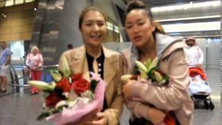 Gwen Garci, Jennifer Lee and Boobay Arrives in Doha Qatar