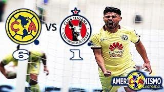 Resumen América 6-1 Xolos Jornada #13 2016