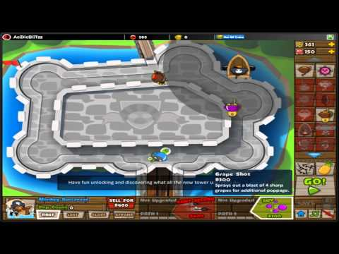 Bloons Tower Defense 5 - BTD5 - Fast Upgrades - Special Mission (No Lives Lost)