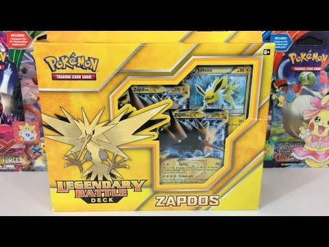 Pokemon Cards - Opening a Zapdos Legendary Battle Deck!!