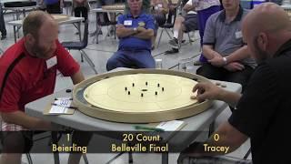 Crokinole 2017 Belleville Final - Tracey v Beierling