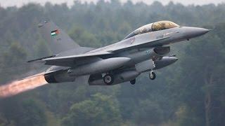 Operação Mártir: Caças da Jordânia atacando base do Estado Islâmico na Síria
