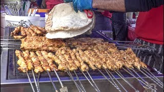 Huge Skewers from Iran and Turkey, Chicken and Lamb Shish. London Street Food