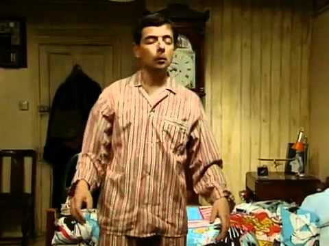 funny viideo Mr Bean   Getting up late for the dentist