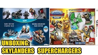 UNBOXING: Skylanders Superchargers Dark edition WiiU + Skylanders superchargers racing 3DS