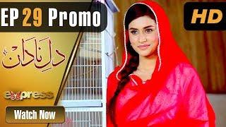 Drama | Dil e Nadaan - Episode 29 Promo | Express Entertainment Dramas | Abid Ali, Zaheen Tahira