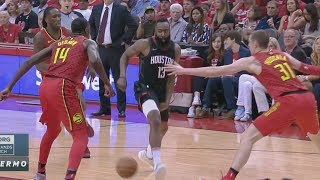 James Harden Shammgod Through Legs Pass! Rockets 60 Wins! 2017-18 Season