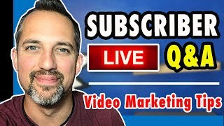 🔴 13 Video Marketing Questions ANSWERED -- Video Marketing Tips with Owen Video
