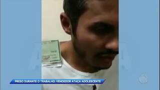 Câmera de segurança flagra vendedor abusando de criança de 11 anos em SP
