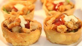 টোপা রেসিপি/Topa Recipe/Chaat katori/Chicken Kachori/Topa Recipe in Bangla/Topa shell with Chicken