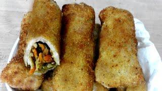 সহজ মজাদার নাস্তা ভেজিটেবল রোল রান্না - Vegetable Roll