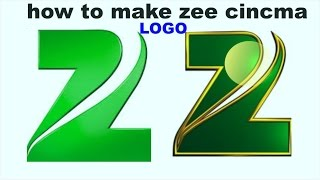 how to make zee cinema logo design