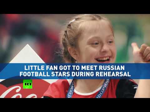 Xxx Mp4 'Couldn't Believe It' 12yo Girl With Down Syndrome Chosen To Open 1st World Cup Match 3gp Sex