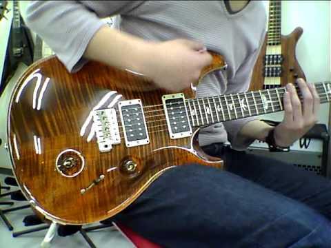 新着動画!! Paul Reed Smith(PRS) 2013 Custom 24 Orange Tiger HFS-Vintage Bass 74212