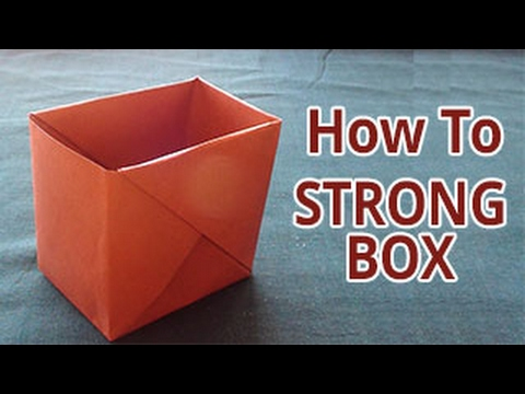 How to make a strong box from paper   DIY - Do it Yourself Origami