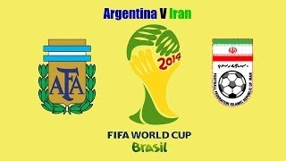Brazil World Cup 2014-Argentina V Iran after game analysis