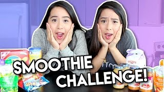 SMOOTHIE CHALLENGE! | Caleon Twins