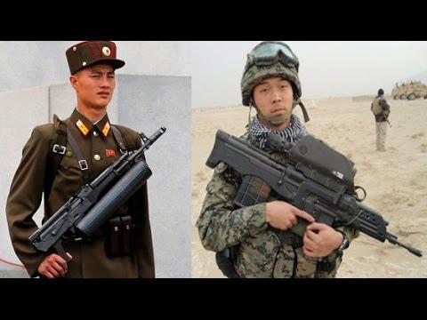 Korean Weapons North Korea vs South Korea Infantry Weapons youtube ✔