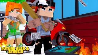 Minecraft TEENAGE BABY ALEX HAS A BAD BOYFRIEND!!! Future Life of Alex & Steve