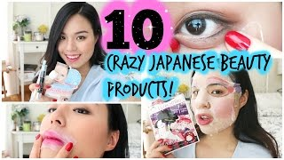 Trying Out 10 Crazy Japanese Beauty Products!   roseannetangrs
