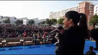 Shradha kapoor and aditya Roy kapoor at Chandigarh university for the promotion of ok jaanu