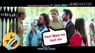 Teri Maa nu terii nu || Carry on jatta 2 funny Gaal scene 😂😂 Down the Volume 😜
