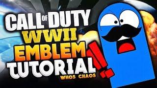 WW2 EMBLEM TUTORIAL!! - BLOO (Call of Duty WW2 Whos Chaos Emblem)