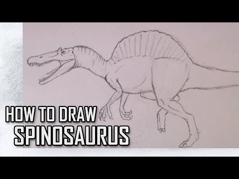 How To Draw Spinosaurs from Jurassic Park III Step By Step