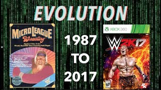 The Evolution of WWF/WWE Covers 1987-2017 WWF MicroLeague to WWE 2K17