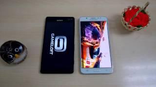 Speedtest Galaxy J7 (6) vs Xperia C4 Dual