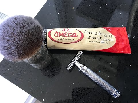 Omega Cream Head SOTD, Muhle R41 with Feather Blade!!!!