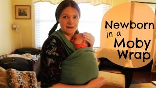 Moby Wrap Newborn Tutorial