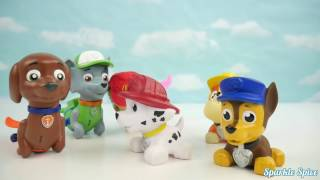 Learn Colors with PJ Masks Water Toys Bath Paint Squirters and Paw Patrol Mer Pups Clip