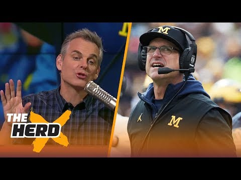 Colin Cowherd on rumors that Jim Harbaugh will sign a lifetime contract with Michigan THE HERD