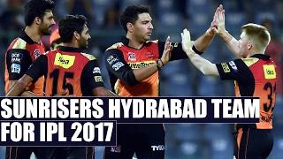 Sunrisers Hydrabad full team for IPL 2017 : Mohammed Siraj surprise buy stuns all | Oneindia News