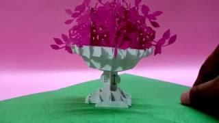 Pop Up Card Flower Vase