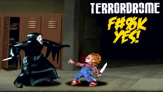 HORROR MOVIE FIGHTING GAME!!?? [TERRORDROME] [GAMEPLAY]