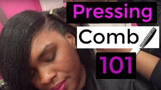 HOW TO USE A PRESSING COMB....
