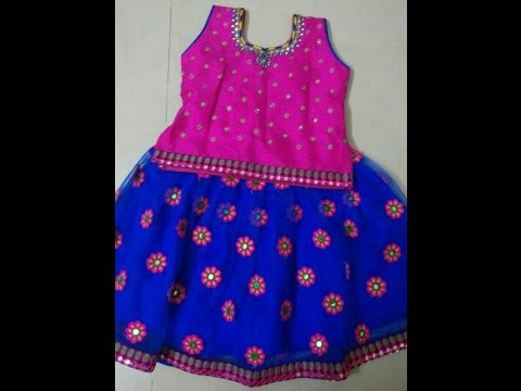 latest kids mirror lehengas and long frocks for wedding