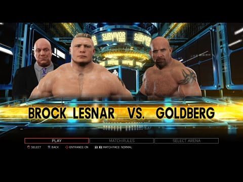 Xxx Mp4 WWE 2K17 PS3 Gameplay Brock Lesnar VS Goldberg 98 Survivor Series 2016 60FPS FullHD 3gp Sex