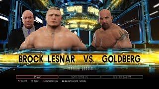 WWE 2K17 PS3 Gameplay - Brock Lesnar VS Goldberg 98 Survivor Series 2016 [60FPS][FullHD]