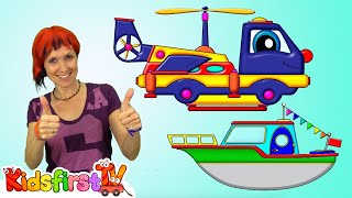 Truck Transformer - Save Maria from CROCODILES! - Cartoons for Kids