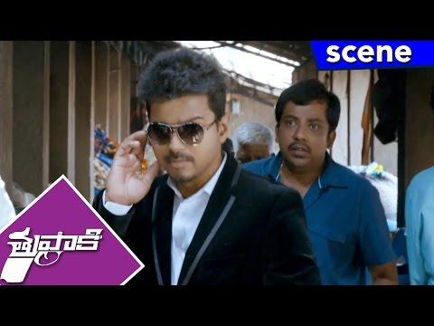 Vijay With His Military Batch Breaks Terrorist's Plan - Thuppakki Movie Scenes