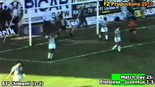 Serie A 1980-1981, day 25 Pistoiese - Juventus 1-3 (Chimenti goal)