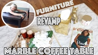 DIY: Marble Coffee Table Affordable & Easy