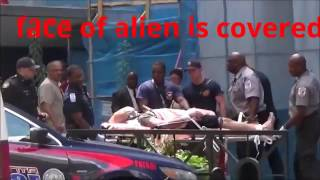 Alien Human Hybrid Captured By Police In Atlanta - caught on camera