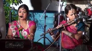 Vrajvadhus Kirtan @ cultural event on Radhastami 2015 at ISKCON Vrindavan