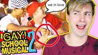 SECRET GAY STORYLINE IN HIGH SCHOOL MUSICAL 2?!