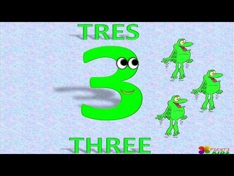 Numbers 1 to 20 in English and Spanish For Children Números 1 al 20 En Español e Inglés Para Niños